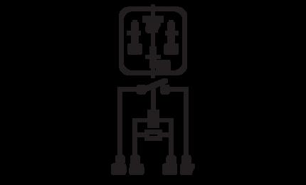Normal Open 4 Pin Relay 12 Volt, 40 amp