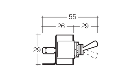 Narva Off/Momentary (On) Toggle Switch