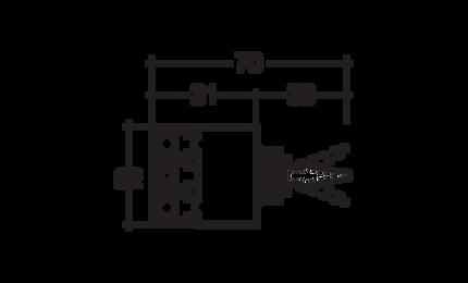 Narva Momentary (On)/Off/Momentary (On) Heavy-Duty Toggle Switch