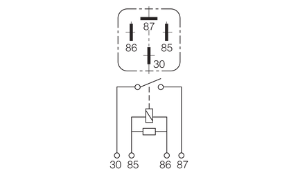 Narva | 12V 40A NORMALLY OPEN 4 PIN RELAY on