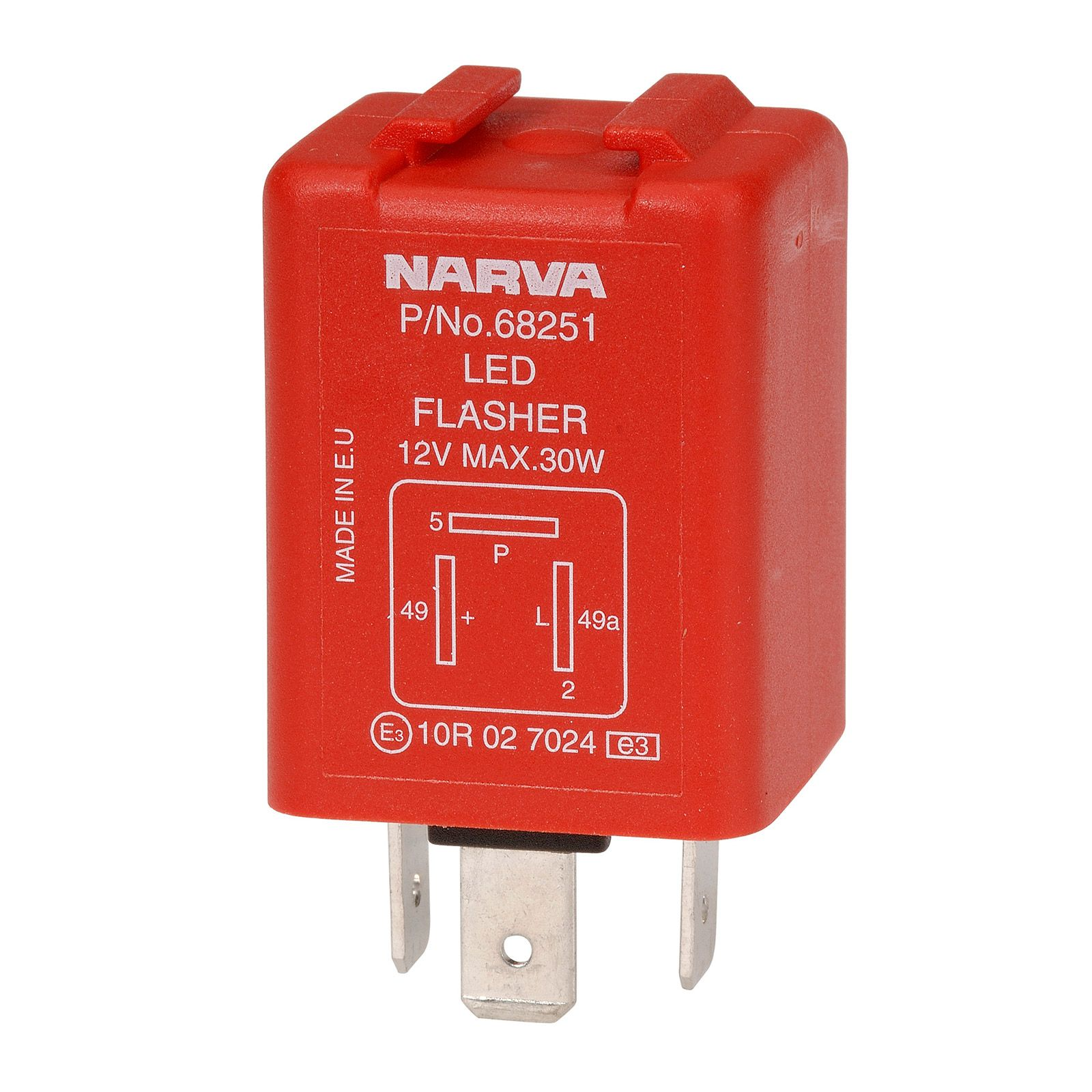 Narva | 12 Volt 3 Pin LED Electronic Flasher with Pilot on